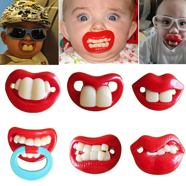 Baby Funny Dummy Prank Pacifier Novelty Toy Teeth Children Child Soother Nipple