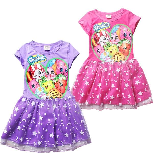 wish new shopkin fruit shopping kids girls dress everyday summer