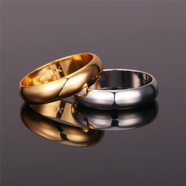 Wish Leisure Gold Ring Men Women Gift 18k Real GoldPlatinum