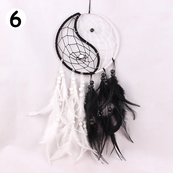 Dream Catcher Circular Feathers Wall Hanging Decoration Decor Ornament