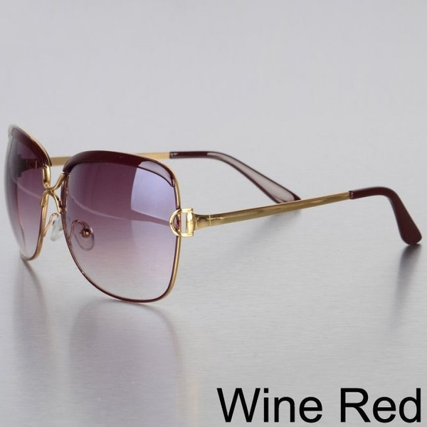 Women's Fashion Vintage Luxury Designer Brand Sunglasses (Ivory White,Brown,Leopard,Wine Red)
