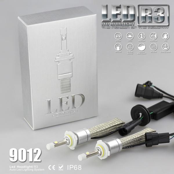 Super Bulb R3 White 50 9600lm Kit Conversion HIR2 Xenon XHP Cree LED 9012 4800lm Bright Headlight Carr 6000K FJ3lT1cK
