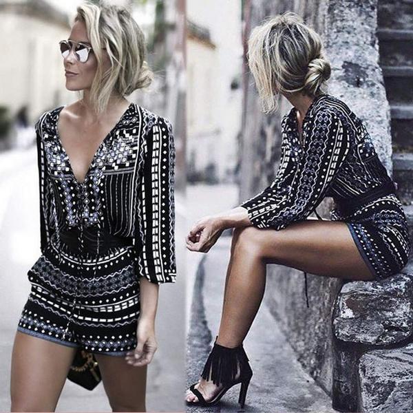 Mini, Fashion, clubwear, printedromper