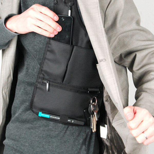 Picture of Anti-theft Hidden Underarm Shoulder Bag Phone Holster / Multifunction Inspector Color Black