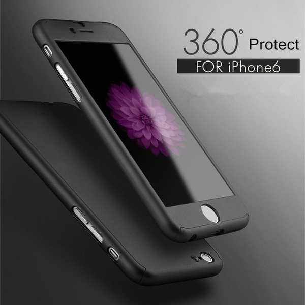 Hybrid Tempered Glass + Acrylic Hard Case Luxury fashion Cover Skin For iPhone 6 Plus