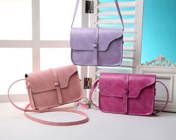 Picture of Women Crossbody Candy Color Shoulder Bags Pink/black/rose Red/beige/purple/brown