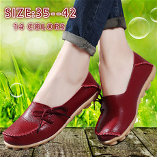 New Women Real Leather Shoes Moccasins Mother Loafers Soft Leisure Flats Female Driving Casual Footwear Size 35-42