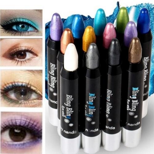 Picture of Superdeals Pretty 12 Colors Waterproof Shiny Long Lasting Eyeshadow Eyeliner Pencil