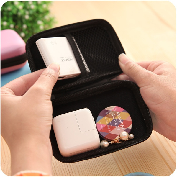 Multi-function Mini Zipper Earphone SD Card Storage Bag Box Travel Carrying Pouch