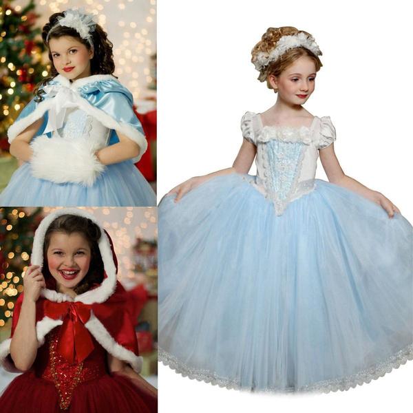 Wish | Kids Girls Frozen Elsa Anna Dresses Costume Princess Party ...
