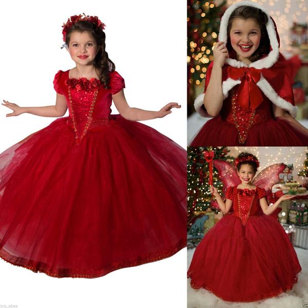 222f3f56e4e45 Kids Girls Frozen Elsa Anna Dresses Costume Princess Party Fancy Dress with  Cape