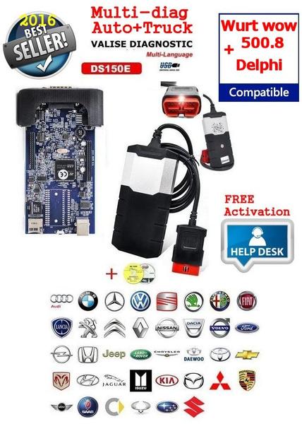 DS150e DELPHI Diagnostique Car+Truck Multimarque sans bluetooth 2014 R2  keygen