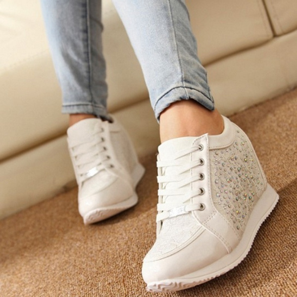 Picture of Women Shoes Hidden Heels Wedge Shoes Fashion Women's Boots Causal Women Boots Rhinestone Shoes