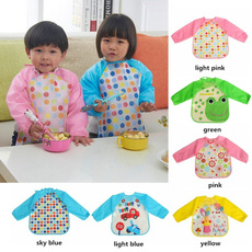 Cute Baby Toddler Waterproof Long Sleeve Kids Feeding Art Smock Bib Apron