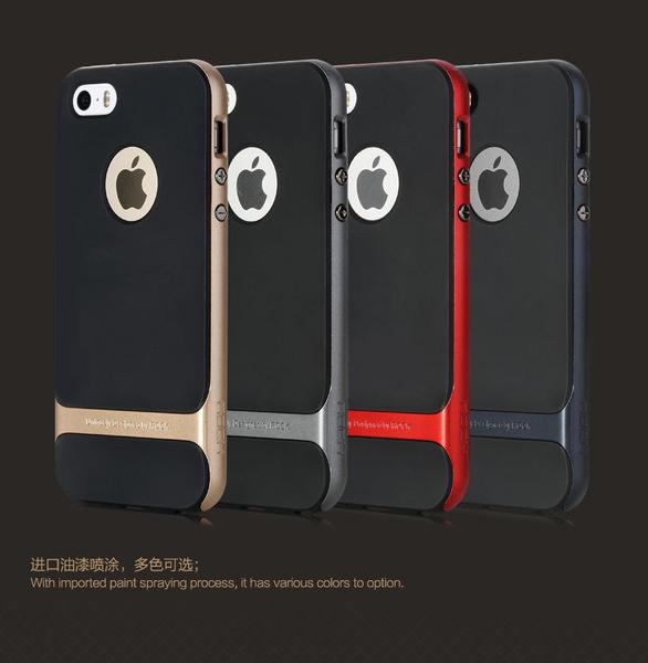 official photos d6c28 7d0c2 ROCK Royce Ultra slim Hybrid Shockproof Case Cover Bumper for iPhone SE/  5S/ 5