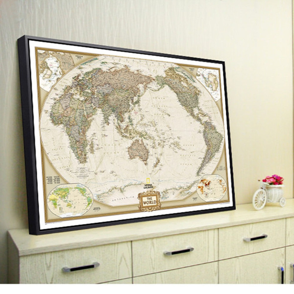 Wish vintage retro paper world map poster children gifts wall wish vintage retro paper world map poster children gifts wall chart decor gumiabroncs Images