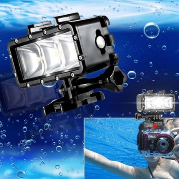Picture of Mini Led Fill Light Selfie Diving Waterproof Dimmable Video Portable Multi-functional Light Light Spotlight With Quick Release Buckle Mount Screw Wrench For Sports Action Camera 30m Underwater