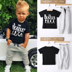 2PCS Causal Kids Baby Boy Clothes T-Shirt + Trousers Sports Pants Outfit