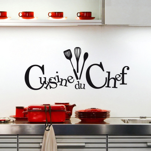 New Cuisine Du Chef Art Home Decoration Removable Wall Stickers