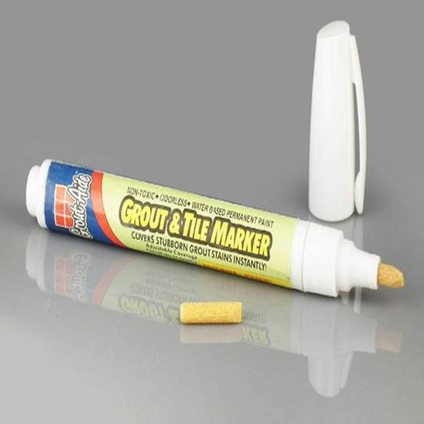 39  1. Wish   Grout Aide   Grout   Tile Marker Repair Wall Pen white