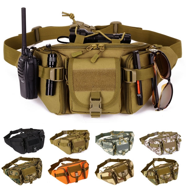 Picture of New Fashion Men And Women Tactical Molle Waist Bags Waterproof Outdoor Sport Casual Hiking Camping Waist Pack Nylon Work Waist Bag Army Military Small Bags