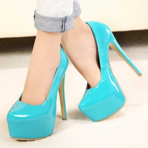 56252ca1ff3 Big Size 35-44 Sexy High Heels Women Platform Pumps Design Neon Color Black  Nude Hot Party Wedding Shoes