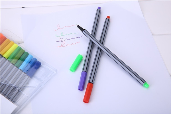 24 fineliners pens 24-color pastel set best quality colorful marker pens arts painting pencils a set 24 children pens A