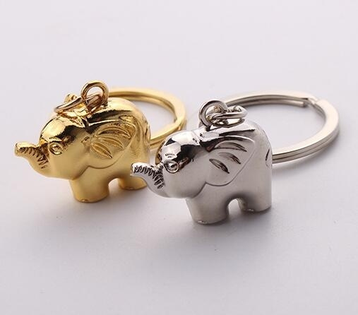 Fashion 316L Stainless Steel Silver/Gold Color Elephant Key Chain Cute Elephant