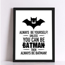 ART Boutique Batman Canvas (No Frame) Art Print Poster Wall Pictures for Home Decoration
