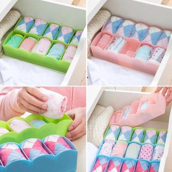 Multi-function Desktop Drawer Storage Box Clothing Organizer Five Grid Storage Box Underwear Socks Bra Ties