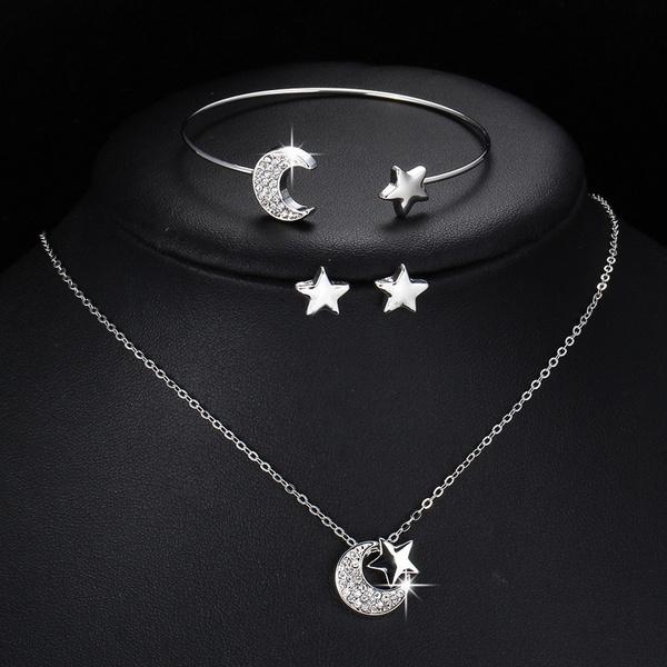 Silver Jewelry, Fashion, Star, Stud Earring