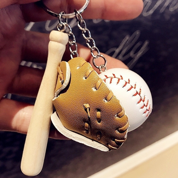 Special Baseball Hat Pendant Gold Plated Keychain
