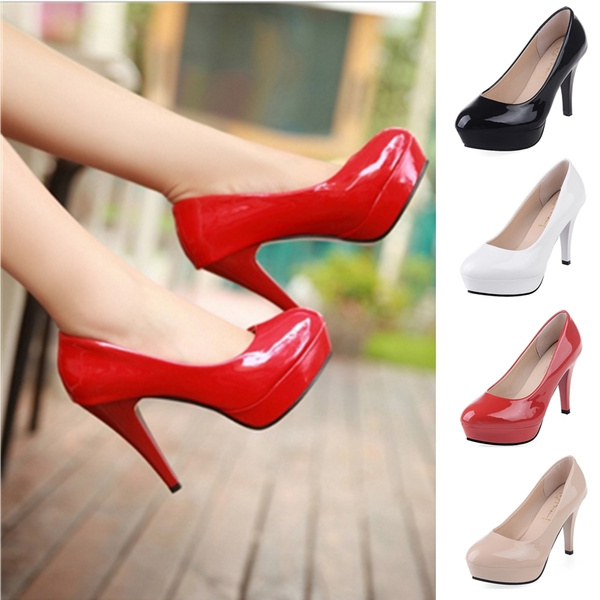 Picture of Ol Office Fashion Ladies Platform High Heels New Arrival Round Toe Red Bottom High Heels Shoes Women Spring Pumps Womens