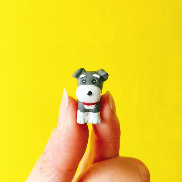Wish Sale 1pcs Schnauzer Dog Puppy Fairy Garden Gnome Moss