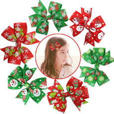Baby Girls Christmas Ribbon Hair Bows Alligator Clips Fashion Headbands For Teens Women Girls Kids Pack Of 6 (Colorful)