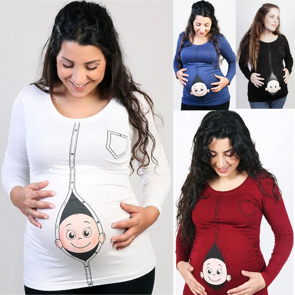 many fashionable biggest discount hot sale online New Maternity Shirt Specialized for Pregnant Women Plus Size European Big  Size Pregnancy Clothes