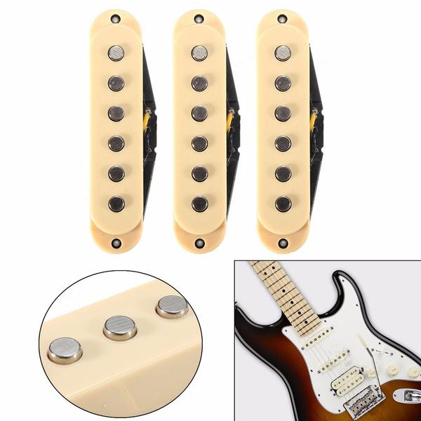 Vintage Hot AlNiCo V Guitar Pickups for Fender Strat Guitar Loaded  Pickguard Acoustic Guitar Amplifier