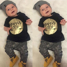 Hot sale New 2pcs Newborn Toddler Infant Kids Baby Boy Clothes T-shirt Tops+Pants Outfits Set