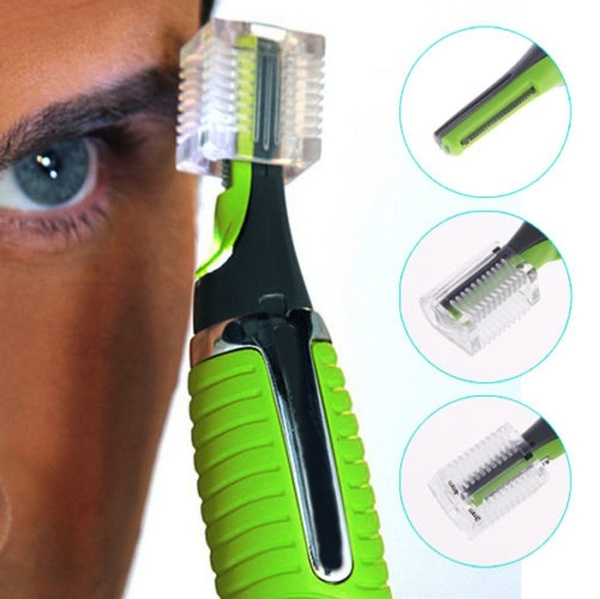 Man Professional Personal Hair Trimmer Ear Nose Mustache Beard Grooming Kit Trimmer  (Color: Green)