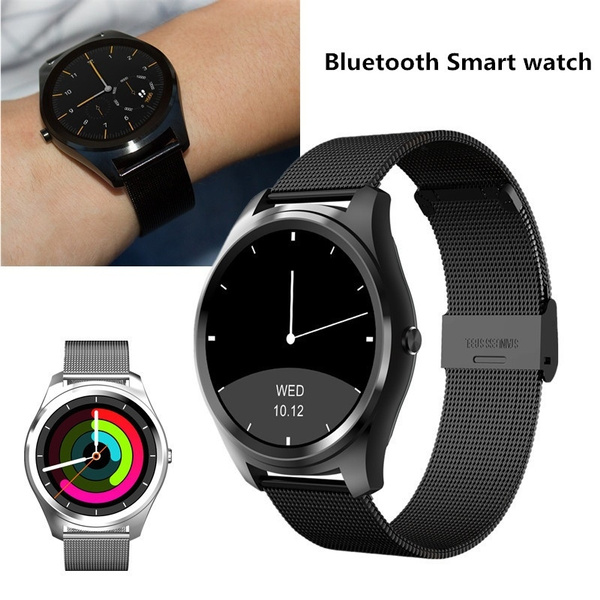Bluetooth Siri Smart watch MTK2502C 128MB+64MB 1 15cm Ultra-thin IP67 Heart  Rate Monitor Pedometer Sedentary Remind Sleep Monitorfor Android & IOS