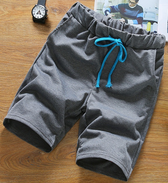 Male Summer Outdoor Casual Short Trouses Men`s Fashion Beach Pants Five Size Eight Color