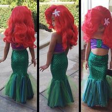 Baby Girls Little Mermaid Tail Costume Bikini Set Swimwear Swimsuit Bathing Suit Outfits Dress