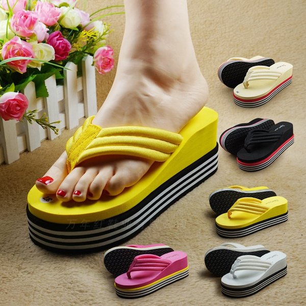 Picture of Ladies Wedge Summer Sandals Womens Girls Flip Flops Beach Toe Post Shoes