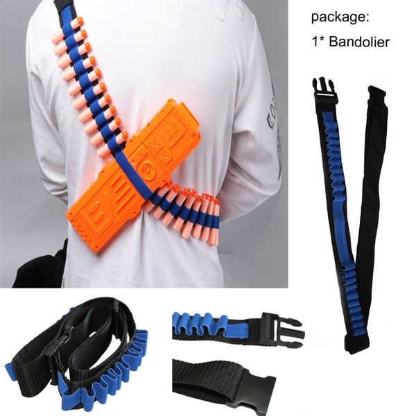 High Quality Bandolier Shoulder Strap Darts Ammo Storage for Nerf N-strike Blasters Toy Gun