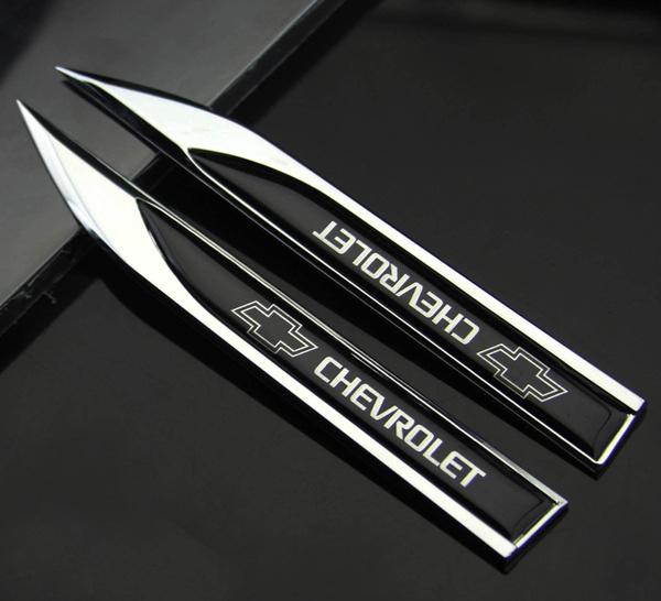 2pcs 3d Metall Auto Fenders Schriftzug Aufkleber Emblem Für Dolch Schwarz Sports