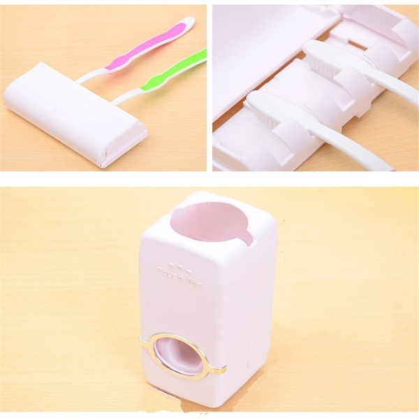 Brand New Creative Toothbrush Holder Sets Automatic Toothpaste Dispenser Family Toothbrush Holder Bathroom Household Items