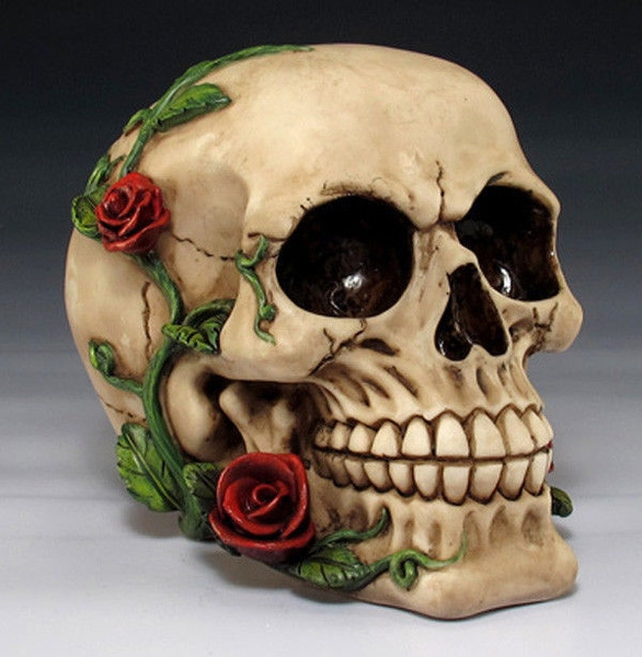 Decor, skeletonhead, Romantic, skull