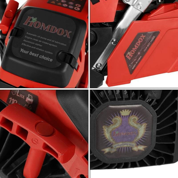 Homdox Petrol Chainsaw Saw Blade With Chains, Bar Cover and Tool Kit Garden  Home Use(Only Ship to USA)