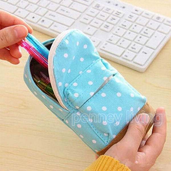 Picture of Mini Cute School Bags Multifunctional Canvas Stationery Bag Purse