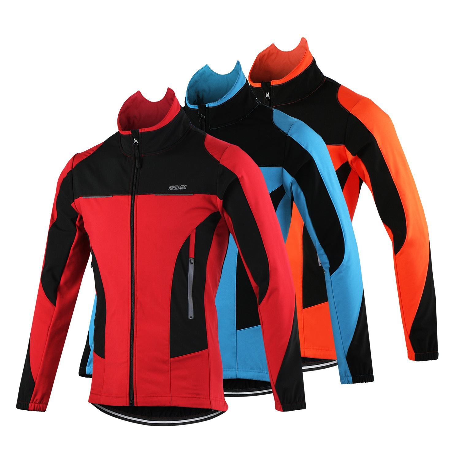 fce587080 Details about Thermal Cycling Jacket Winter Bicycle Windproof Waterproof Sports  Coat Jersey